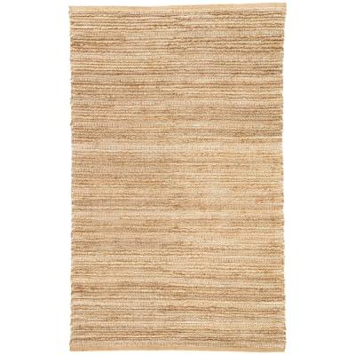 Natural Warm Sand 8 ft. x 10 ft. Solid Area Rug