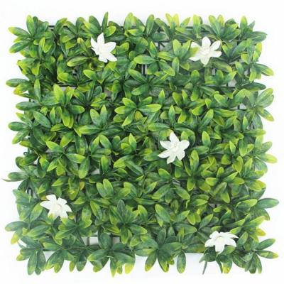 20 in. H x 20 in. W GorgeousHome Artificial Boxwood Hedge Greenery Panels,AzaleaWhite (12-pc)