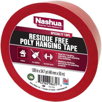 1.89 in. x 54.7 yd. Residue Free Poly Hanging Tape in Red