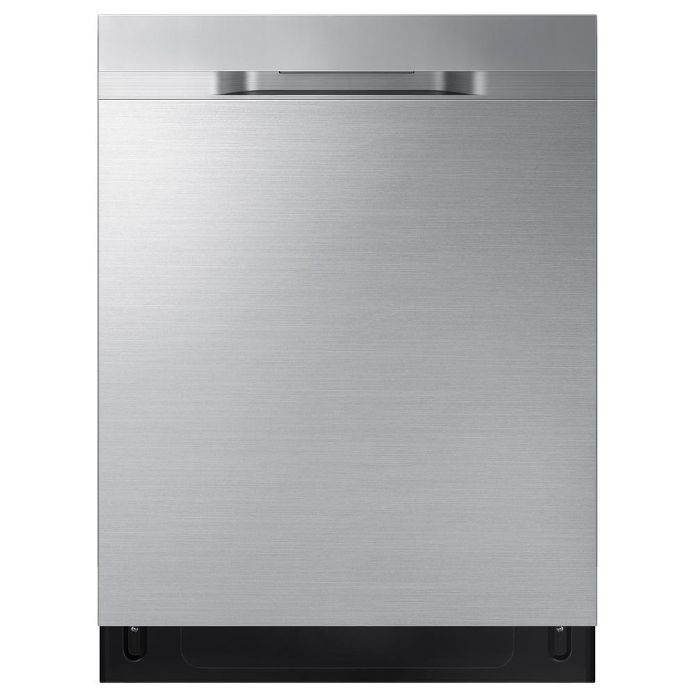 Samsung 24 in Top Control StormWash Tall Tub Dishwasher in Fingerprint Resistant Stainless Steel with AutoRelease Dry, 48 dBA