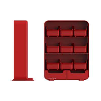 Baggy 9 Drawer Tea Bag and Accessory Holder in Red