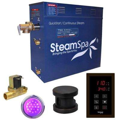 Indulgence 9kW QuickStart Steam Bath Generator Package with Built-In Auto Drain in Polished Oil Rubbed Bronze