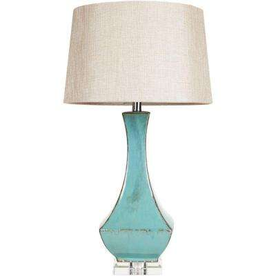 Fathullah 32 in. Turquoise Indoor Table Lamp