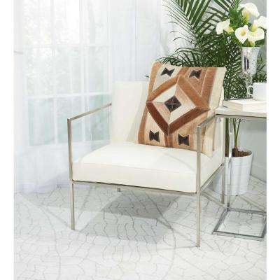Centered Diamond 20 in. x 20 in. Brown Pillow