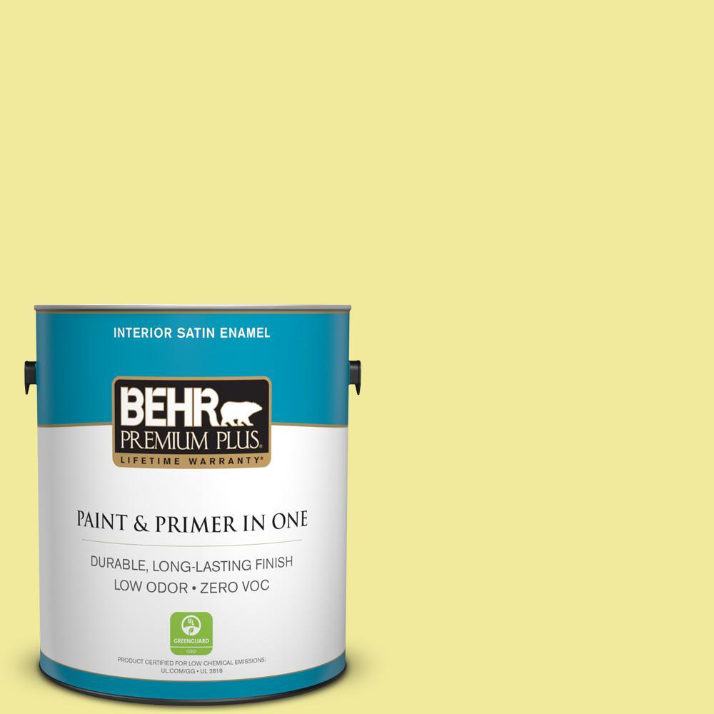 1-gal. #400A-3 Pear Zero VOC Satin Enamel Interior Paint