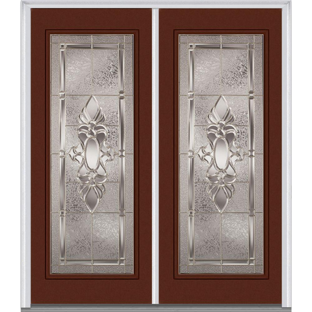 fpg exterior doors 64 in x 80 in heirloom master right hand full lite decorative