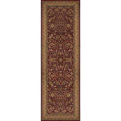 Super Kashan Red 2 ft. 7 in. x 7 ft. 6 in. Indoor Runner