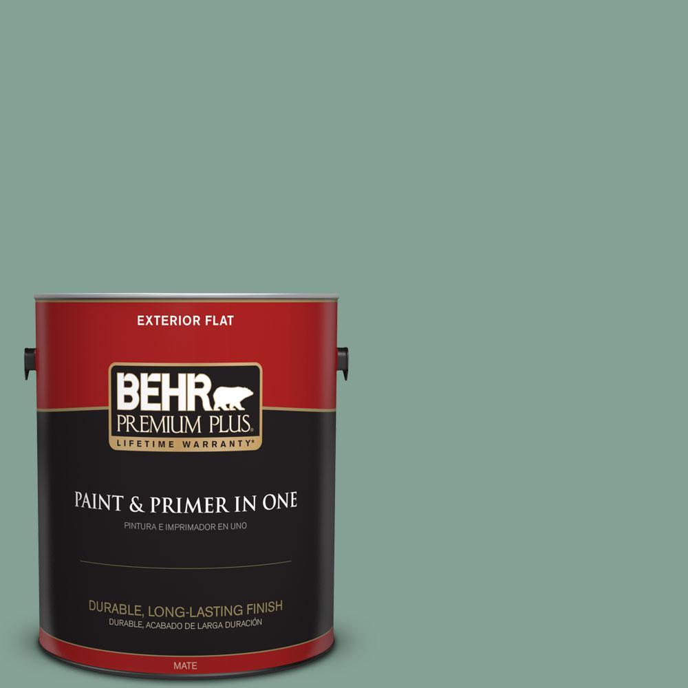 BEHR Premium Plus 1-gal. #S420-4 Australian Jade Flat Exterior Paint