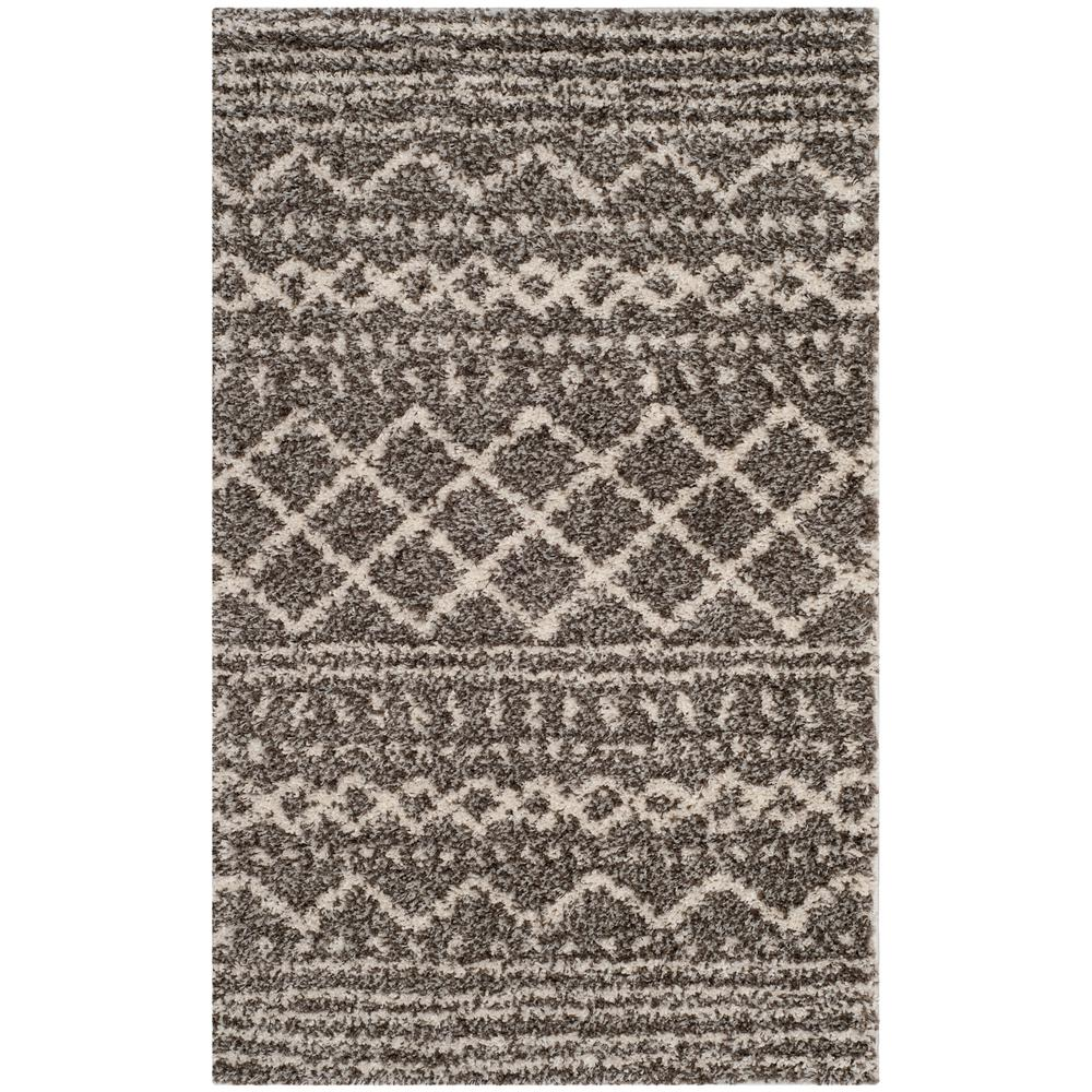 Arizona Shag Brown/Ivory 3 ft. x 5 ft. Area Rug