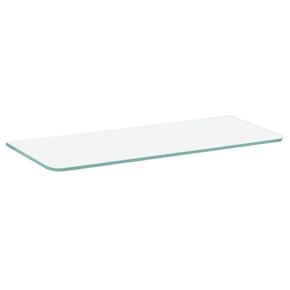Dolle 23-1/2 in. x 8 in. x 5/16 in. Standard Glass Line Shelf in Frosted