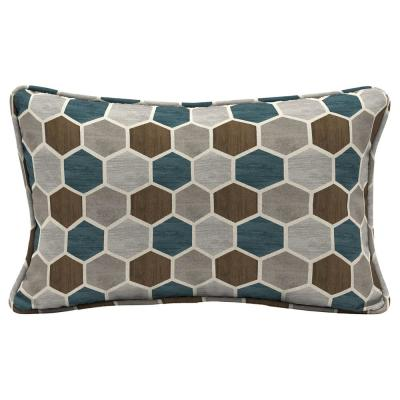 Charleston Hex Lumbar Outdoor Throw Pillow (2-Pack)