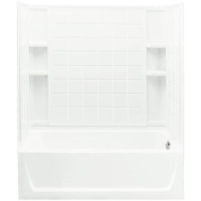 Four Piece Tub Shower Combos Bathtubs The Home Depot