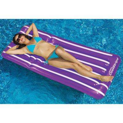30 in. x 72 in. Assorted Colors Coolstripe Pool Lounger