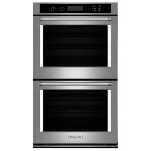 30 inch Double Electric Wall Oven Self-Cleaning in Stainless Steel by
