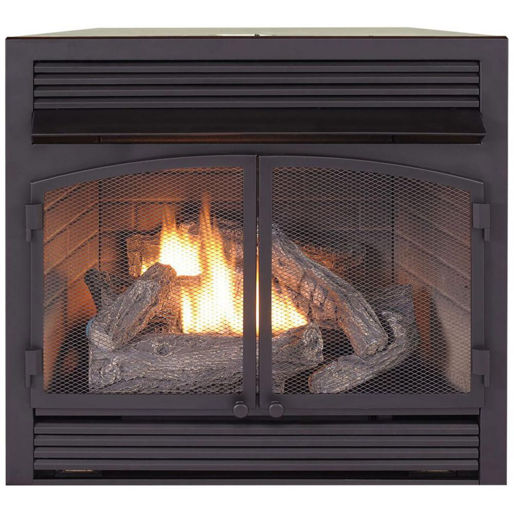 Dual Fuel Fireplace Insert Zero Clearance - 32,000 BTU