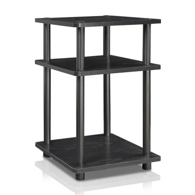Turn-N-Tube Easy Assembly Wood Black Multipurpose Shelf