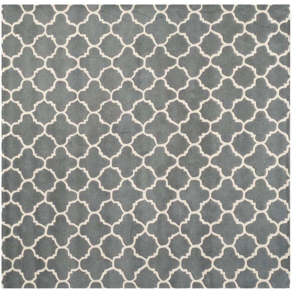 Chatham Dark Grey/Ivory 7 ft. x 7 ft. Square Area Rug