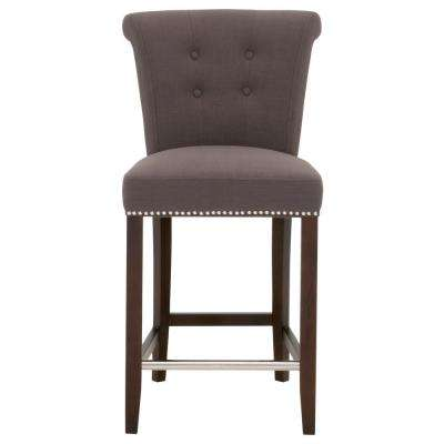Luxe 26 in. Sepia Fabric, Espresso Counter Stool