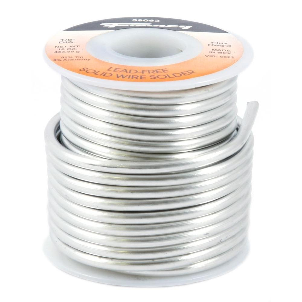 Forney 1/8 in. 1 lb. Lead Free Solder 95/5 Tin Antimony-38062 - The ...