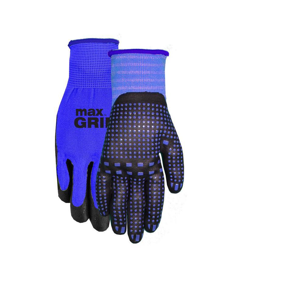 Men's Blue Max Grip Nitrile Dot