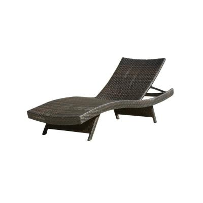Salem Multi-Brown 1-Piece Wicker Outdoor Chaise Lounge