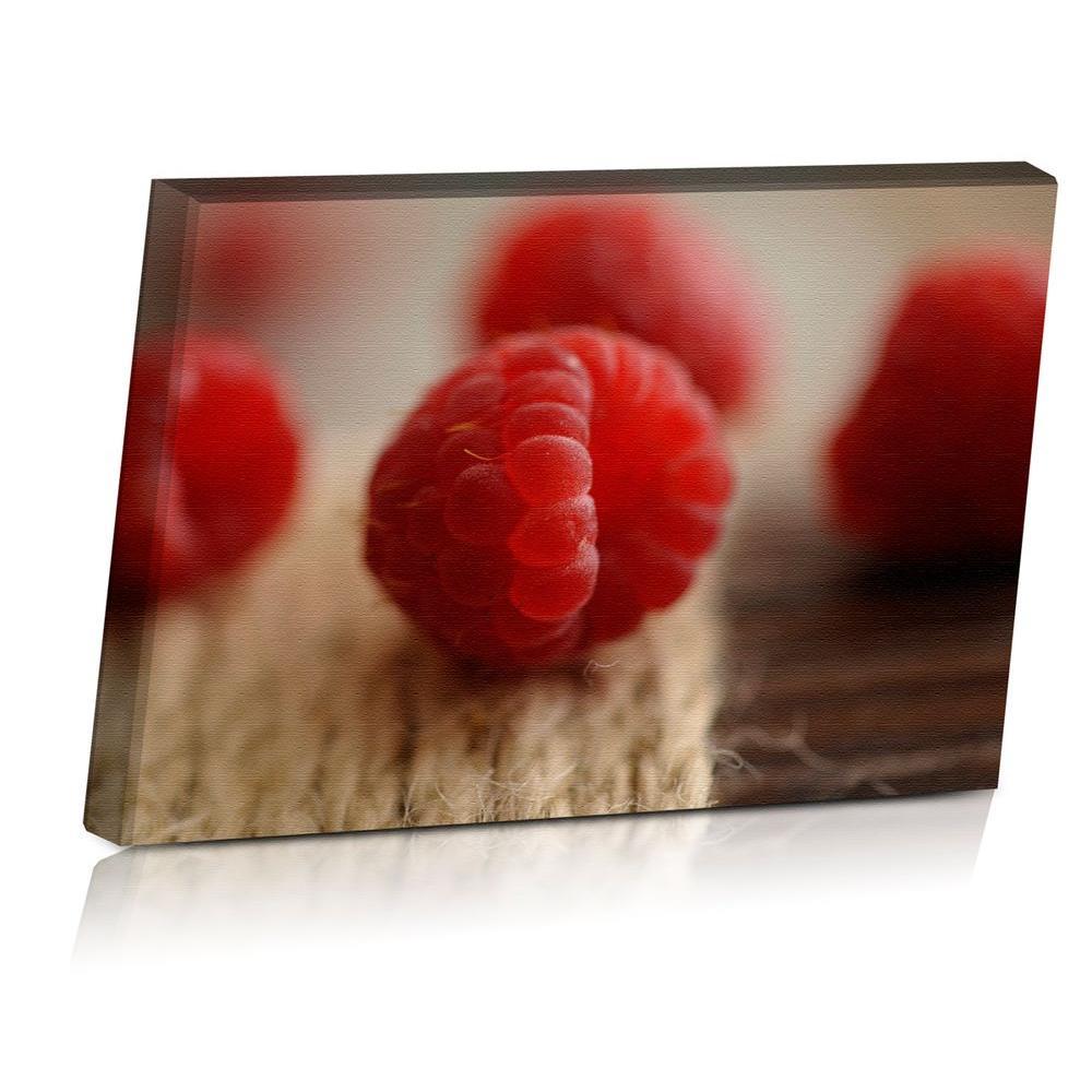 24 in. x 16 in. Rustic Raspberries Printed Canvas