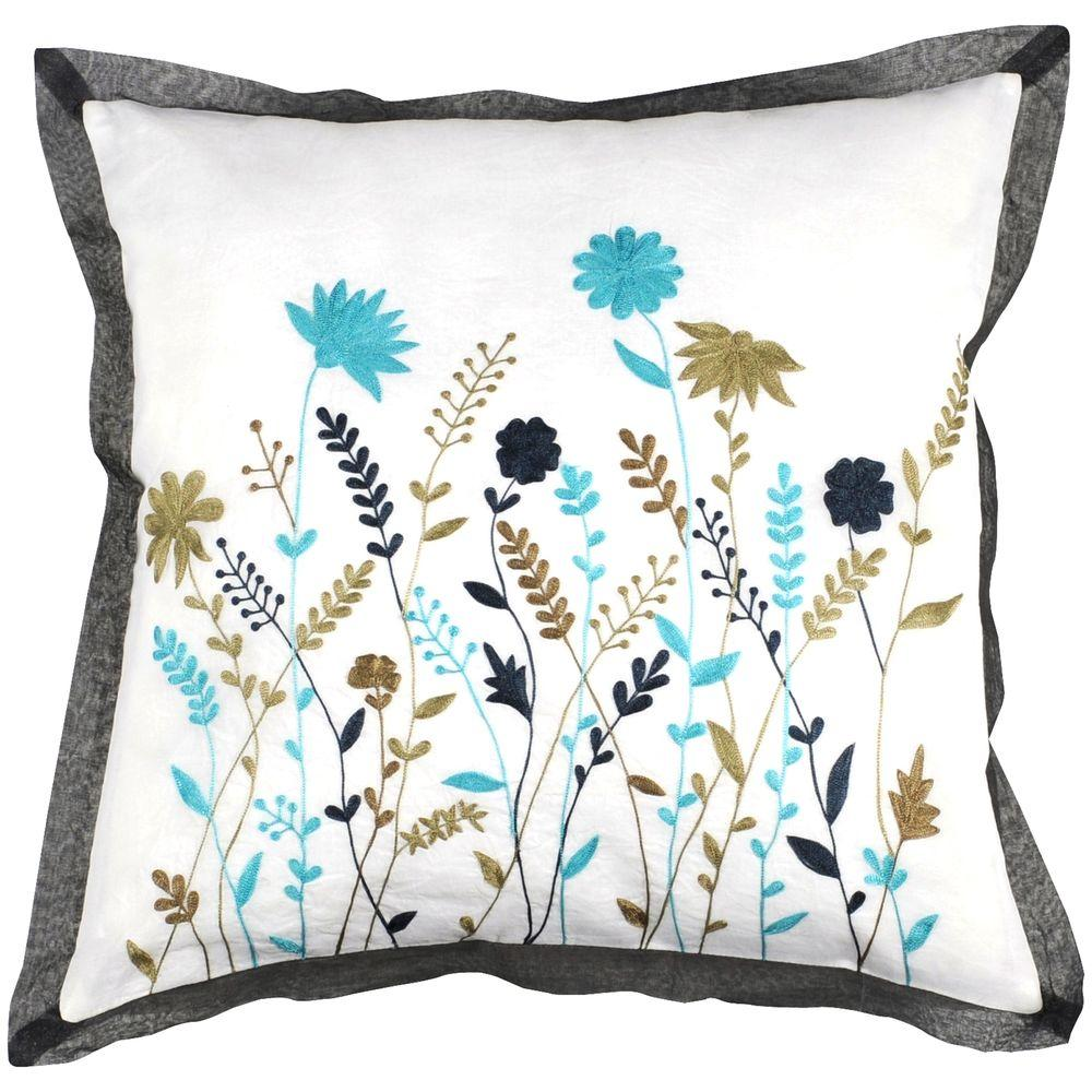 Artistic Weavers FloralF 18 in. x 18 in. Decorative Down Pillow-DISCONTINUED