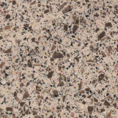 2 in. x 2 in. Solid Surface Countertop Sample in Hickory