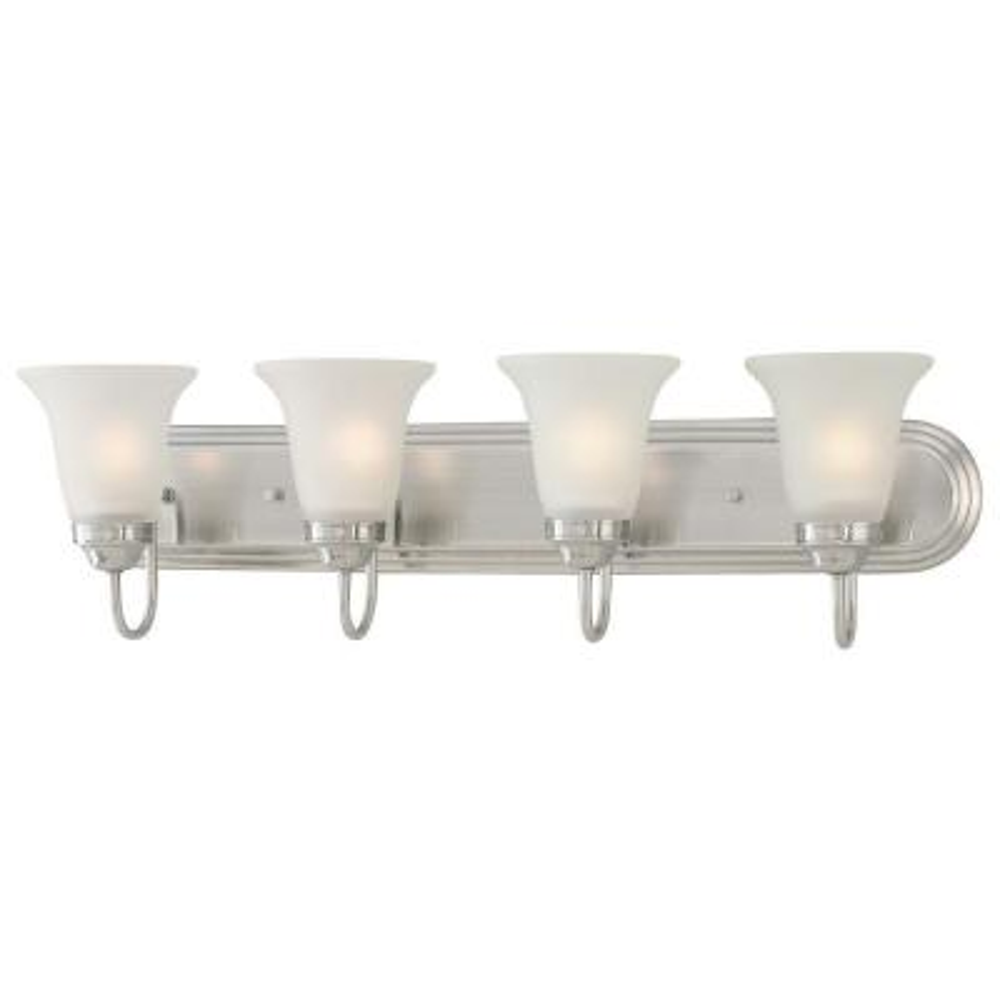 Homestead 4-Light Satin Pewter Wall Vanity Light