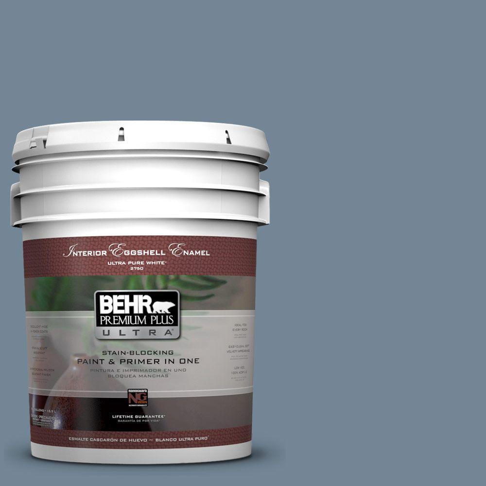 BEHR Premium Plus Ultra 5-gal. #570F-5 Skipper Eggshell Enamel Interior Paint