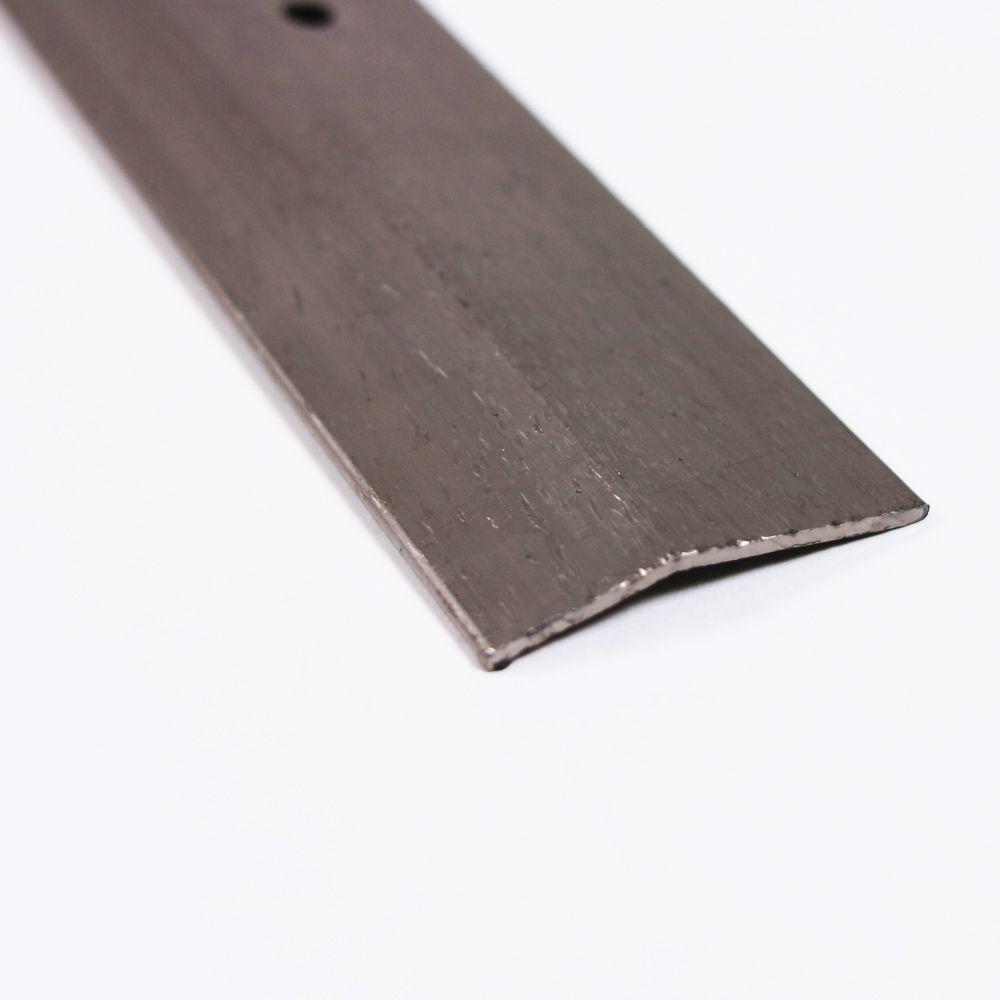 Pewter Hammered 144 in. x 1 3/8 in. Transition Strip Carpet Trim