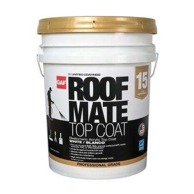 5 Gal. White Roof Mate Top Coat Reflective Roof Coating