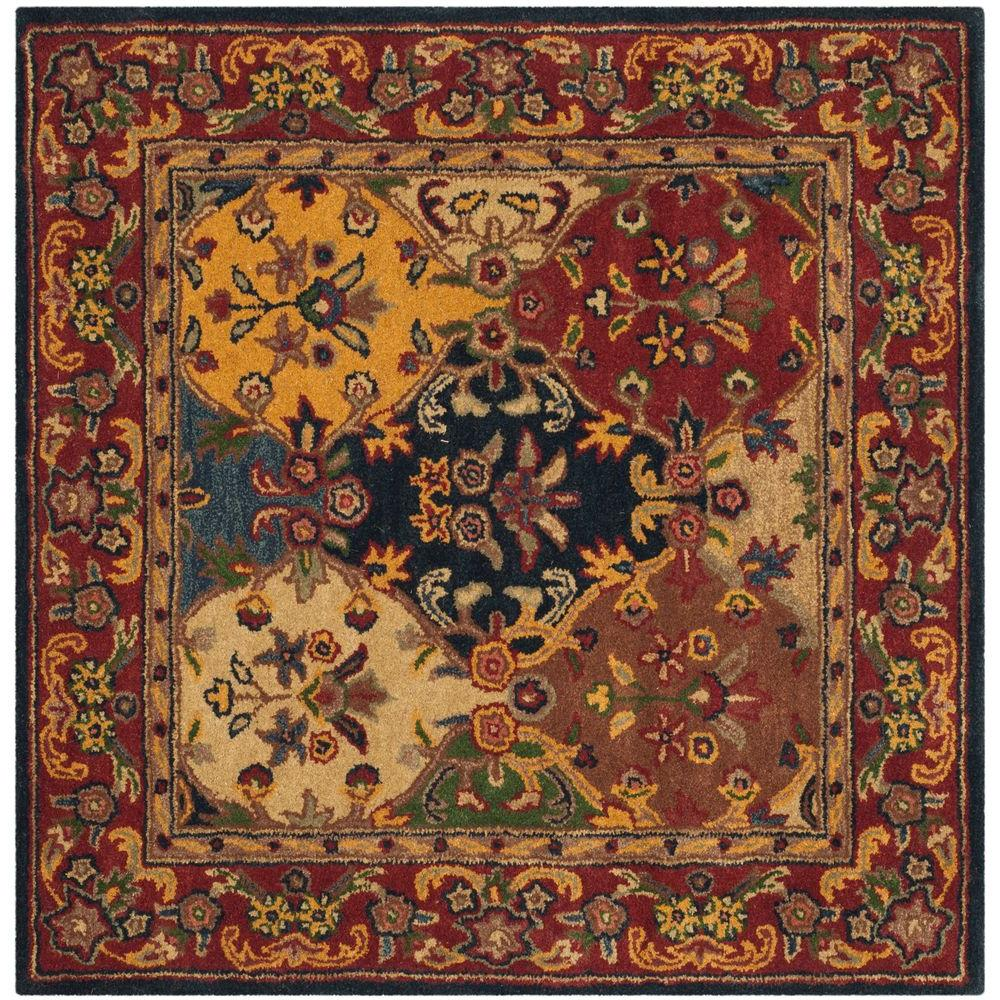 safavieh heritage multi burgundy 4 ft x 4 ft square area rug hg911a 4sq the home depot. Black Bedroom Furniture Sets. Home Design Ideas