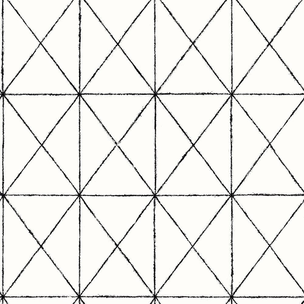 Intersection Black Geometric Wallpaper