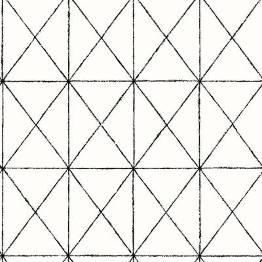 Intersection Black Geometric Wallpaper Sample