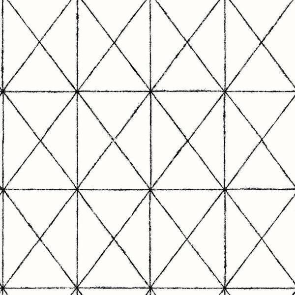 A-Street Intersection Black Geometric Wallpaper Sample 2697-78003SAM