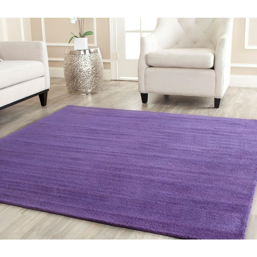 safavieh himalaya purple 8 ft x 8 ft square area the home depot