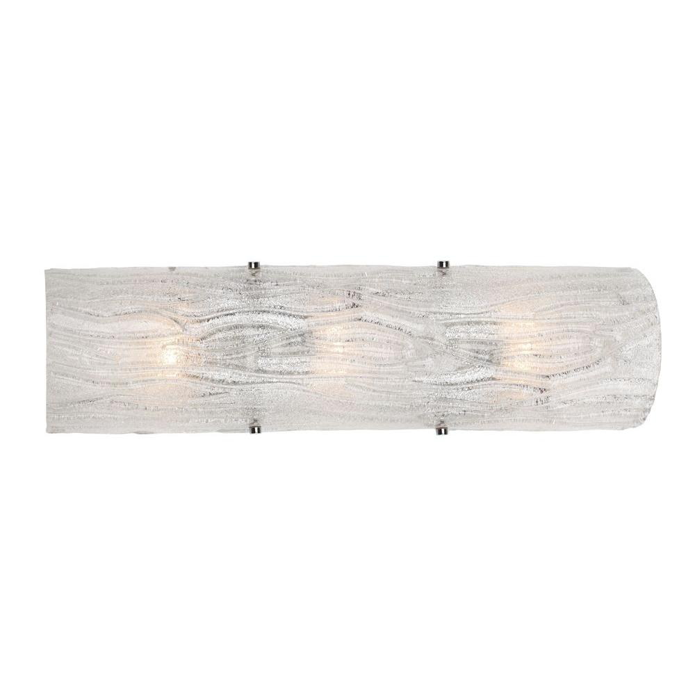 Varaluz Brilliance 3-Light Polished Chrome Sconce with Bright Ice Glass
