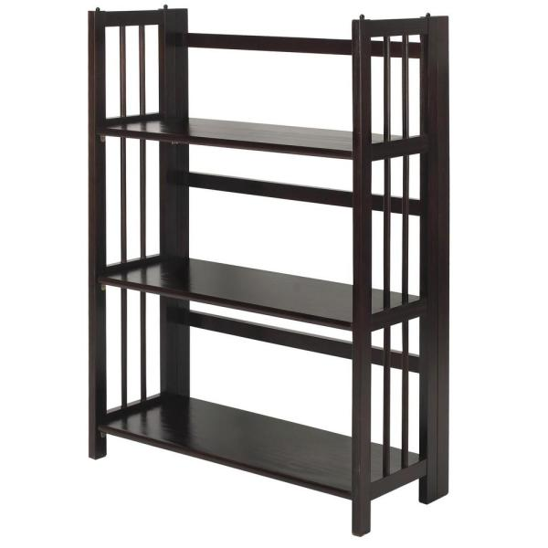 Casual Home Chestnut Folding/Stacking Open Bookcase 330-224