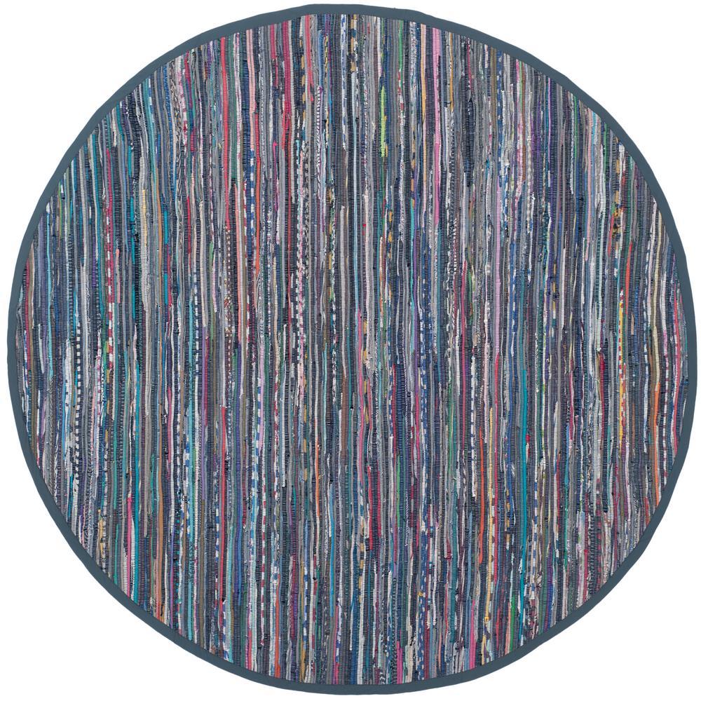 Purple Circle Rugs: Safavieh Rag Rug Purple/Multi 4 Ft. X 4 Ft. Round Area Rug
