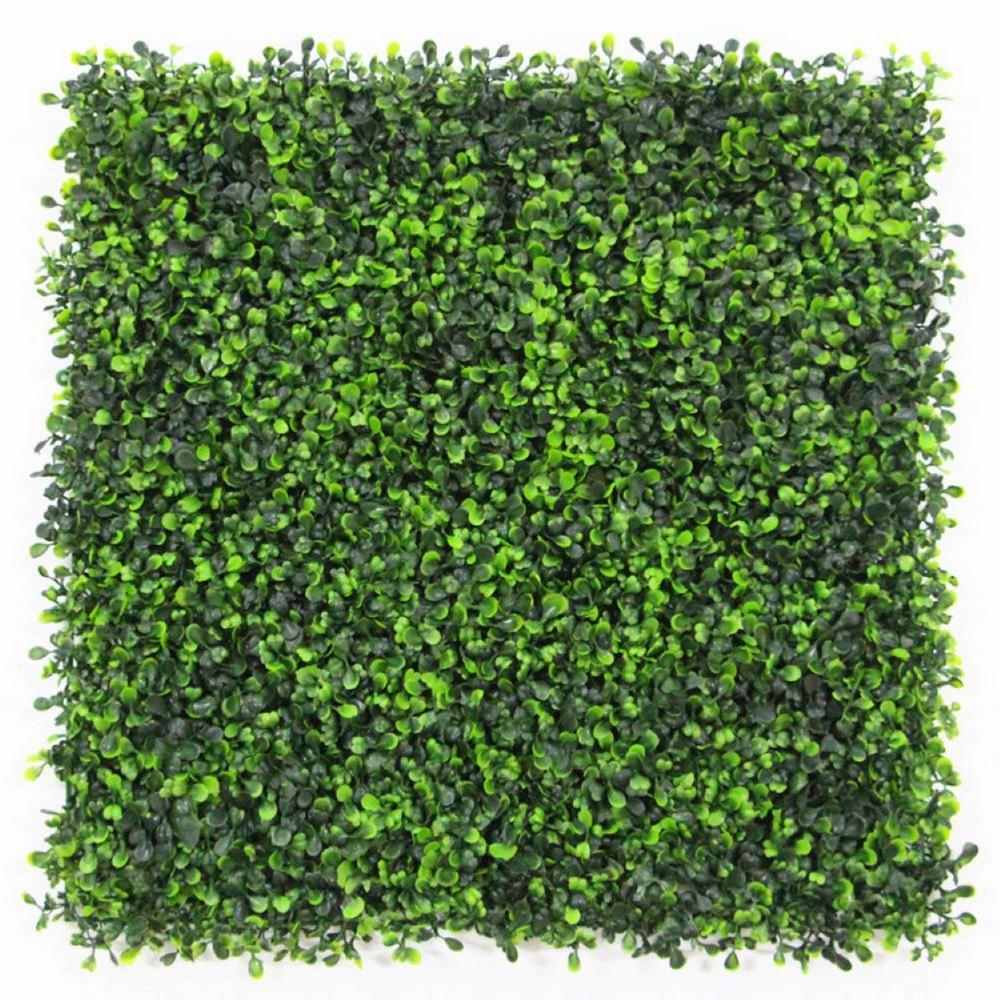 GorgeousHome Artificial Boxwood Hedge Greenery Panels,20''x20''/pc (Milan_12pc)
