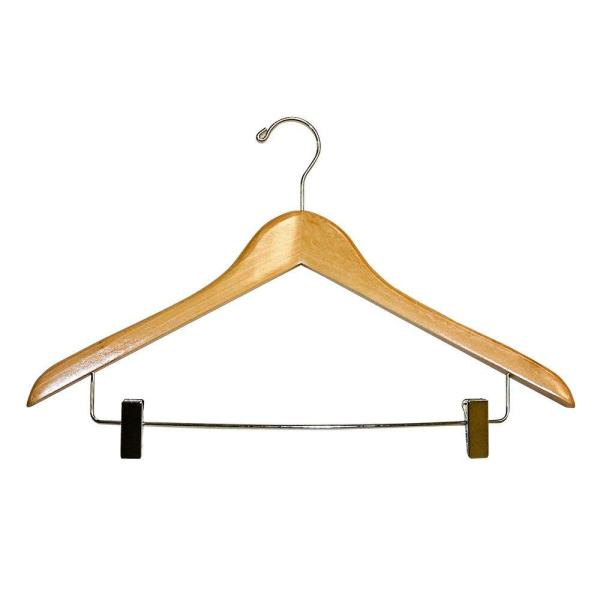 Deluxe Suit Hangers With Metal Clips 2 Pack 88853 The Home Depot