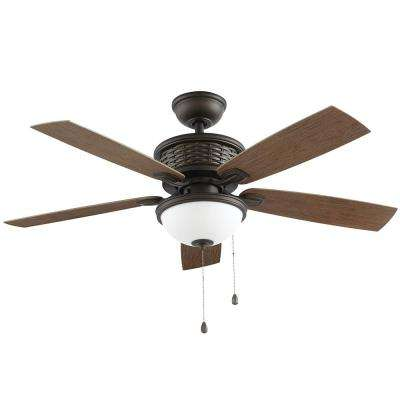 Madreno 48 in. LED Indoor/Outdoor Oil Rubbed Bronze Ceiling Fan with Light Kit