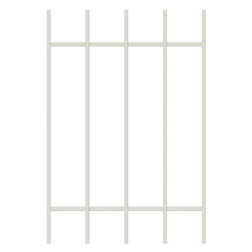 Unique Home Designs Guardian 24 in. x 36 in. Almond 5-Bar Window Guard-DISCONTINUED