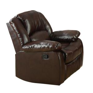 Excellent Furniture Of America Barton Dark Brown Bonded Leather Match Bralicious Painted Fabric Chair Ideas Braliciousco