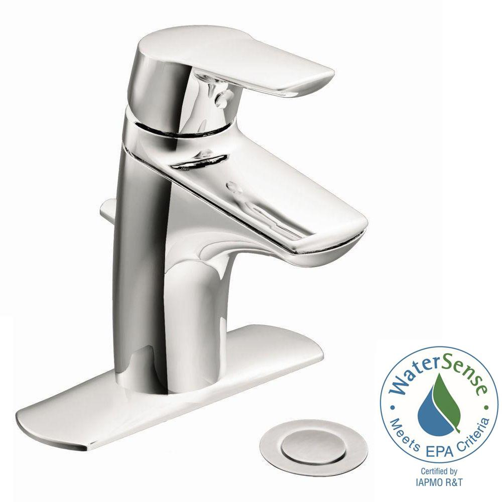 Moen Method Single Hole Single Handle Bathroom Faucet In Chrome 6810