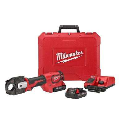 M18 18-Volt Lithium-Ion Cordless FORCE LOGIC 600 MCM Crimper Kit W/(2) 2.0Ah Batteries, Charger, Hard Case