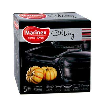 Celebrity 5-Piece Assorted Glass  Bakeware Set