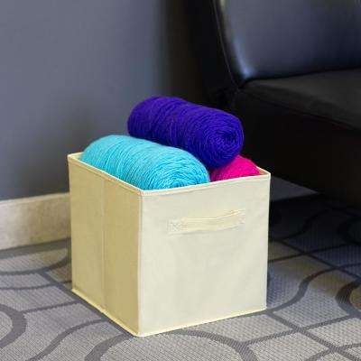 10.5 in x 10.5 in Collapsible and Foldable Non-Woven Storage Cube