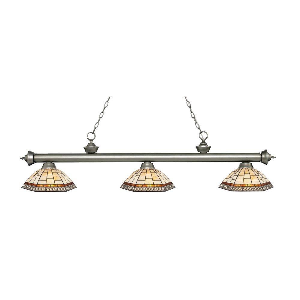 Filament Design Zide 3-Light Antique Silver Island